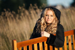 Fashionable girl outdoors Stock Photography