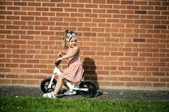Fashionable Girl Ride Bicycle Adorable Concept Royalty Free Stock Images