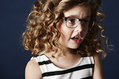 Fashionable girl in spectacles Royalty Free Stock Photo