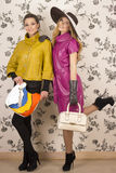 Fashionable girl, spring girl Stock Photos