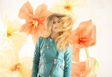 Fashionable girl, spring girl Stock Photography