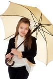 Fashionable girl under an umbrella Royalty Free Stock Photography