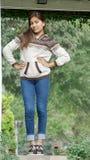 A Fashionable Girl. A young female Peruvian teen stock photo