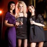 Fashionable girls Stock Images
