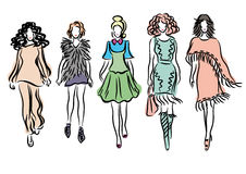 Fashionable girls Royalty Free Stock Images