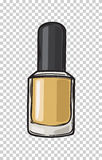 Fashionable Gold Nail Varnish  Illustration Royalty Free Stock Photo