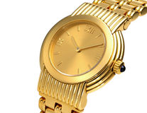 Fashionable golden watch Stock Photos
