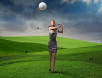 Fashionable golfer Stock Photography