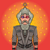 Fashionable gorgeous man Bollywood style. Fashionable and stylish man in 3D glasses. Cool and charismatic Royalty Free Stock Photography