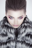 Fashionable gorgeous woman looking - winter style Stock Photos