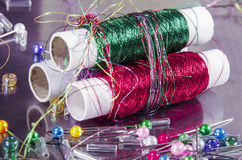 Fashionable haberdashery and hobby Royalty Free Stock Photo