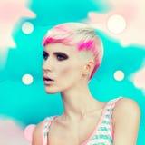 Fashionable hairstyle Stock Photos