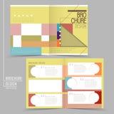 Fashionable half-fold brochure design Stock Photography