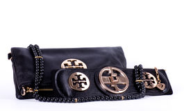 Fashionable handbag and belt Royalty Free Stock Images
