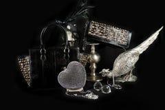 Fashionable handbag composition Stock Images
