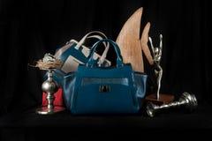 Fashionable handbag composition Royalty Free Stock Images
