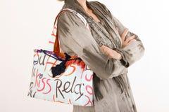 Fashionable handbag of a woman Stock Photo