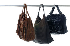Fashionable handbags royalty free stock image