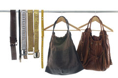 Fashionable handbags Royalty Free Stock Images