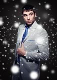 Fashionable handsome buisnessman Stock Images
