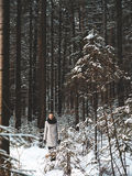 Fashionable handsome man in winter coat Royalty Free Stock Photos