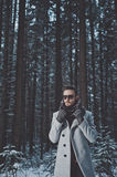 Fashionable handsome man in winter coat Stock Photo