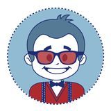 Fashionable and happy showman in sunglasses Royalty Free Stock Image
