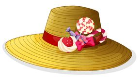 A fashionable hat with candies Stock Images
