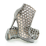 Fashionable High Heels ankle boots, XXXL image Royalty Free Stock Photography
