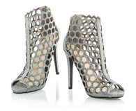 Fashionable High Heels ankle boots, XXXL image Royalty Free Stock Images