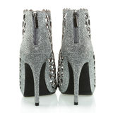 Fashionable High Heels ankle boots, XXXL image Royalty Free Stock Photo
