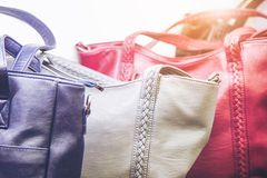 Fashionable and high style expensive female bag stock photo