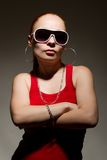 Fashionable hip-hop girl with attitude Royalty Free Stock Photos