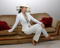 Fashionable hispanic woman Royalty Free Stock Photo