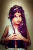 Fashionable indian asian girl portrait Stock Images