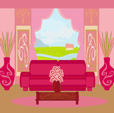 Fashionable interior of living room Royalty Free Stock Photo