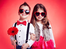 Fashionable kids Royalty Free Stock Images
