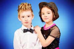 Fashionable kids Royalty Free Stock Photography