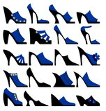 Fashionable ladies shoes Royalty Free Stock Images