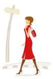 Fashionable lady Stock Image