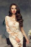 Fashionable lady in stylish interior Royalty Free Stock Image