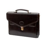 Fashionable leather briefcase Royalty Free Stock Photo