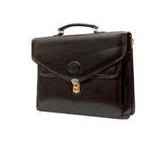 Fashionable leather briefcase Royalty Free Stock Images