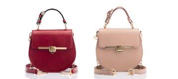 Fashionable leather handbags Stock Image