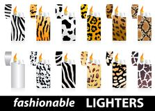 Fashionable lighters Royalty Free Stock Image