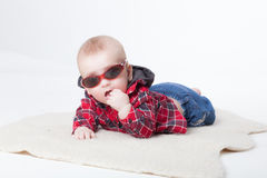 Fashionable little boy Stock Photography