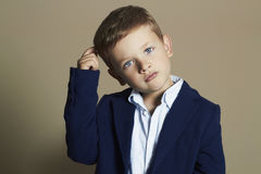 Fashionable little boy.stylish child in suit. Fashionable little boy.stylish kid in suit. fashion children.business boy royalty free stock image