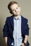 Fashionable little boy.stylish kid in suit Stock Photography