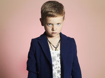 Fashionable little boy.stylish kid in suit Stock Photo