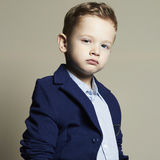 Fashionable little boy.stylish kid in suit Stock Image